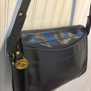 Brahmin Bags - BRAHMIN Vintage Black Leather Shoulder / Crossbody